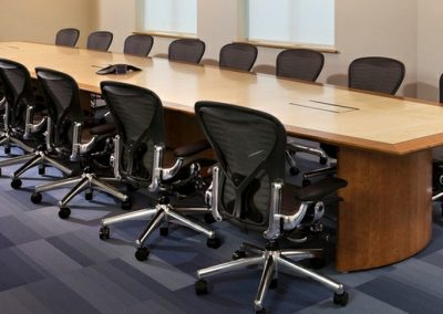 2 Hyform Veneer Boardroom Table