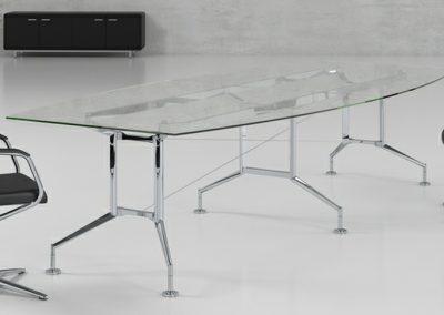 Ensa Glass Boardroom Table